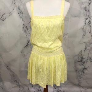 Oasis petites SZ 8 peasant embroidery yellow dress